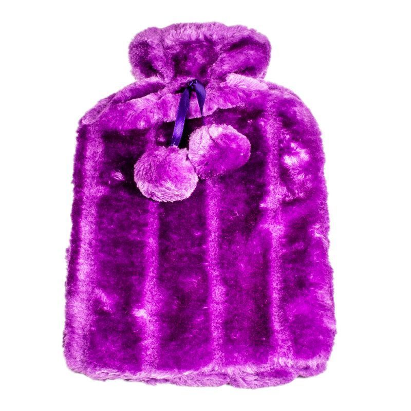 Hot Water Bottle Fur Cover 2L (Purple)