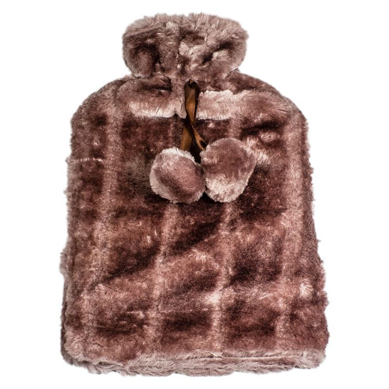 Hot Water Bottle Fur Cover 2L (Brown)