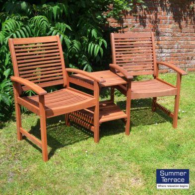 Tornio Tete-a-tete Companion Love Seat Garden Bench & Table