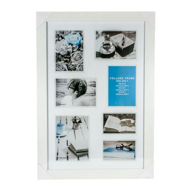 Collage Photo Frame 7 Openings (White)