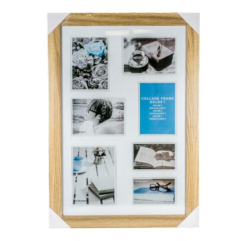 Collage Photo Frame 7 Openings (Ash Wood)