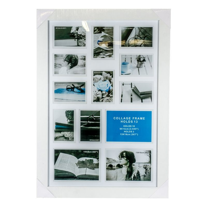 Collage Photo Frame 13 Openings (White)