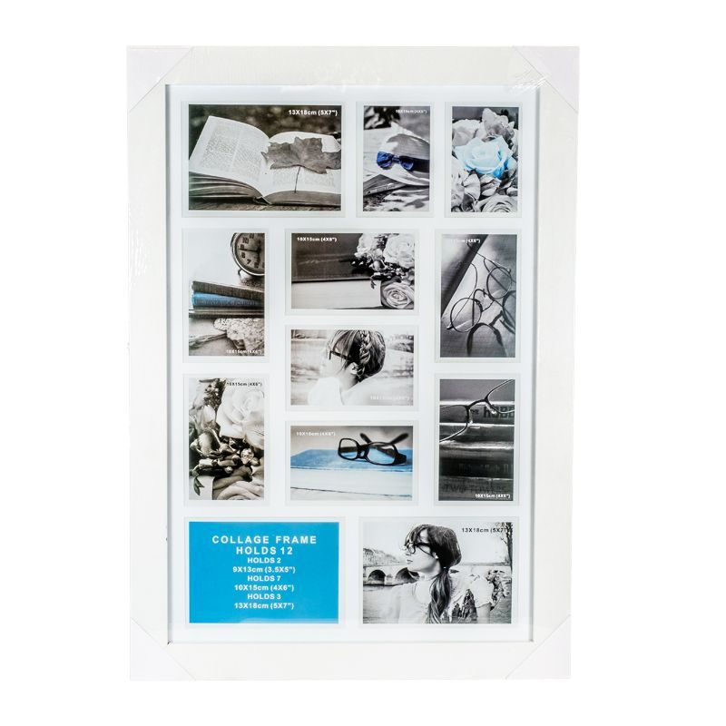 Collage Photo Frame 12 Openings (White)