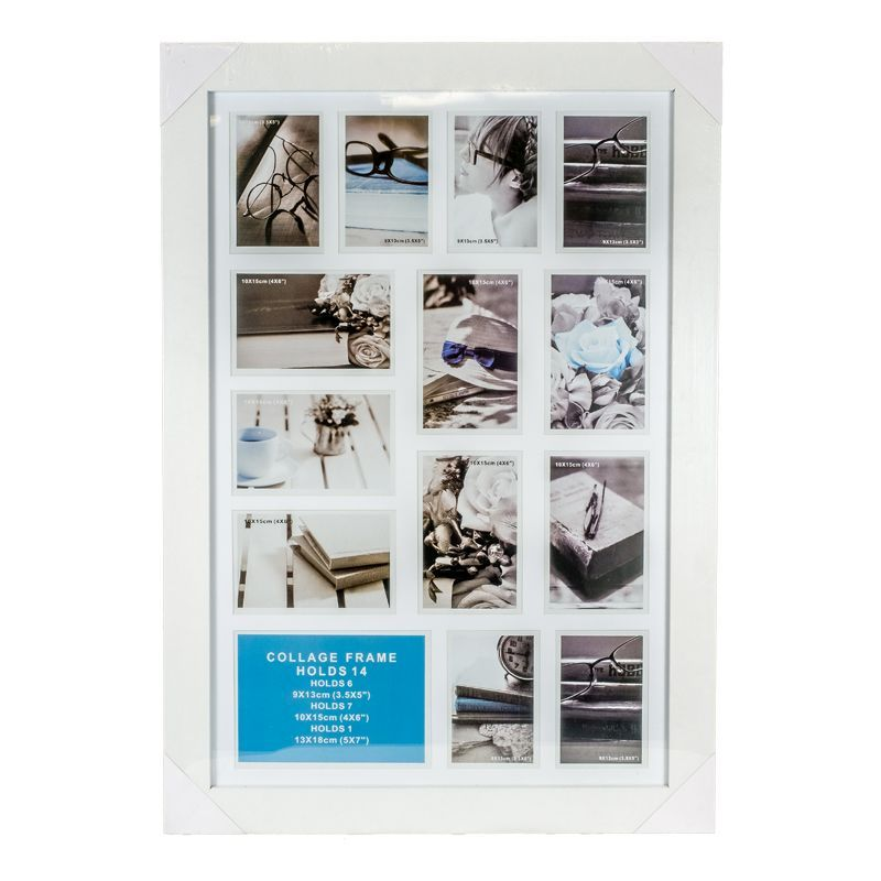 Collage Photo Frame 14 Openings (White)
