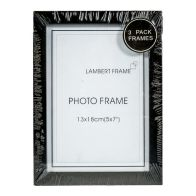 See more information about the Photo Frame 5x7inch 3 Pack (Black)