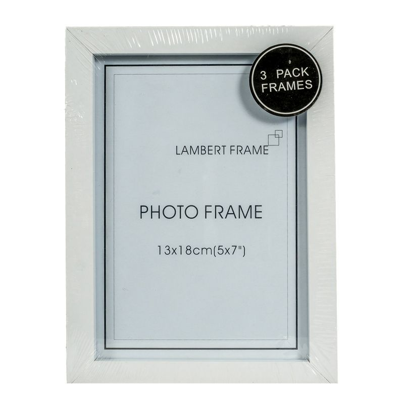 Photo Frame 5x7inch 3 Pack (White)