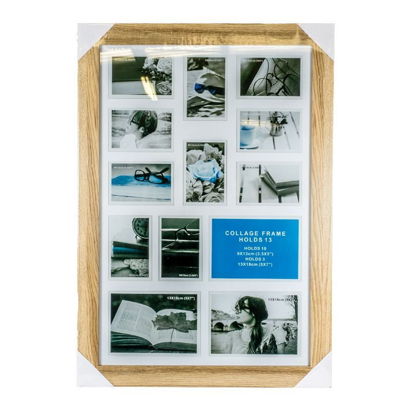 Collage Photo Frame 13 Openings (Ash Wood)