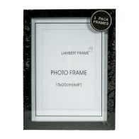 See more information about the Photo Frame 6x8inch 3 Pack (Black)