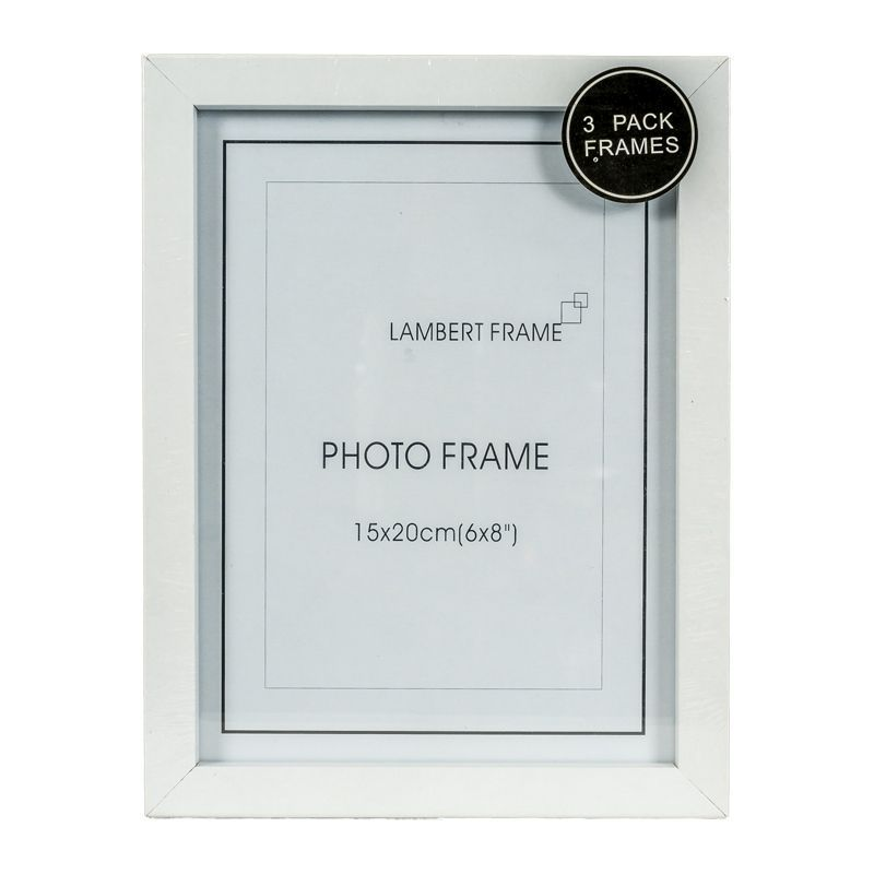 Photo Frame 6x8inch 3 Pack (White)