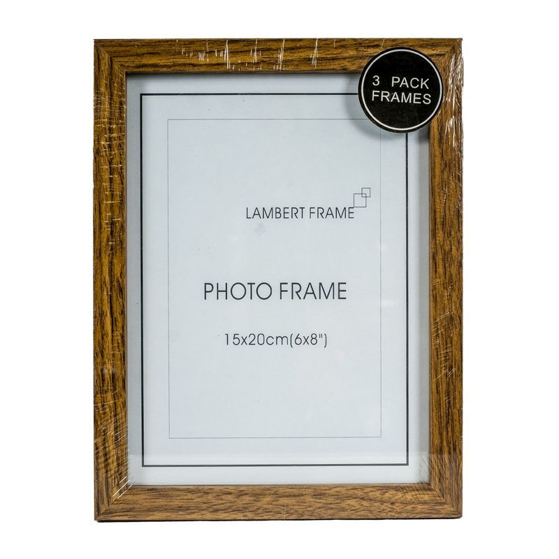 Photo Frame 6x8inch 3 Pack (Wood Grain)
