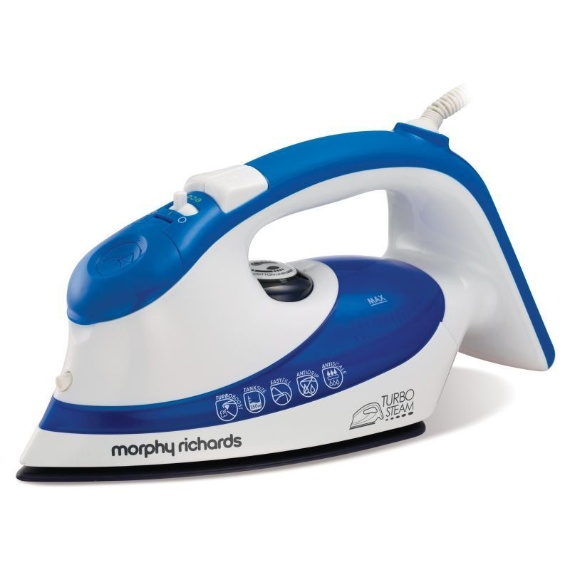 morphy richards eco turbo steam dual zone iron blue. Black Bedroom Furniture Sets. Home Design Ideas