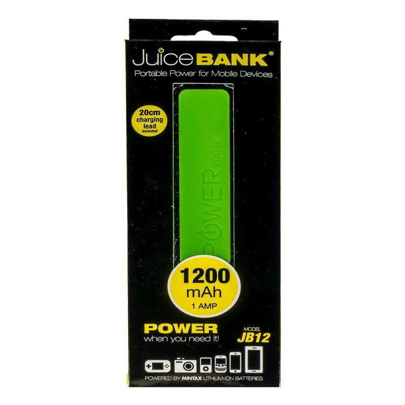 Power Bank Charger 1200mAh (Lime Green)