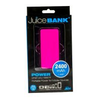 See more information about the Power Bank Charger 2400mAh (Pink)