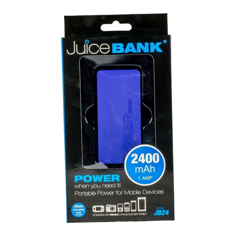 Power Bank Charger 2400mAh (Purple)