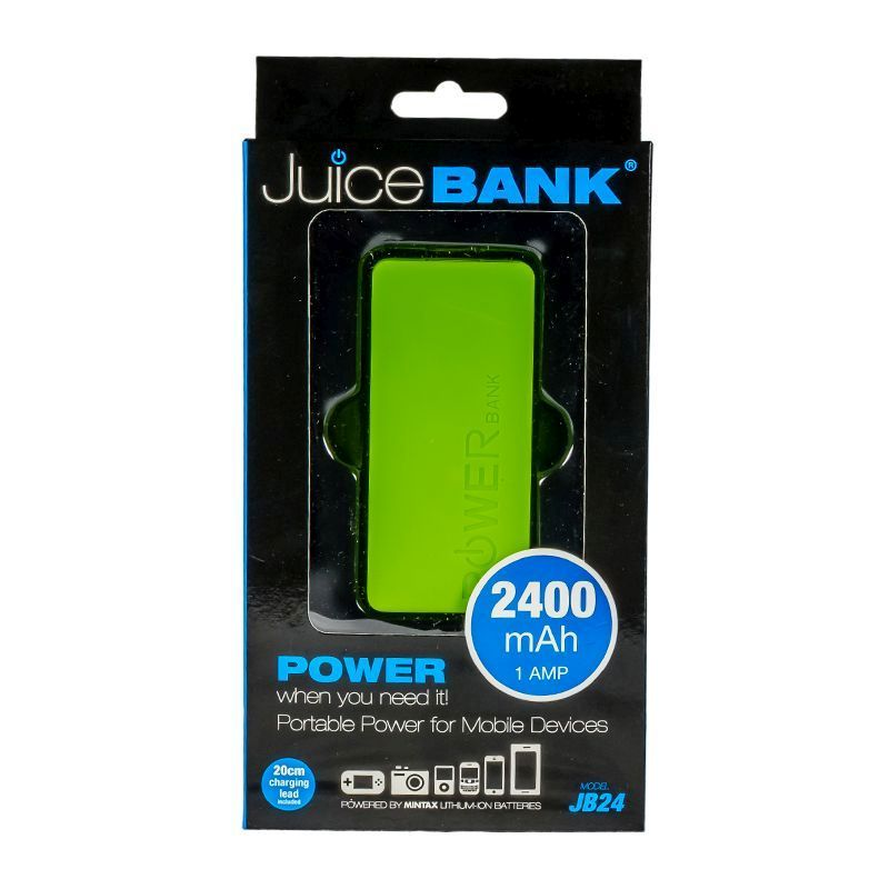 Power Bank Charger 2400mAh (Lime Green)