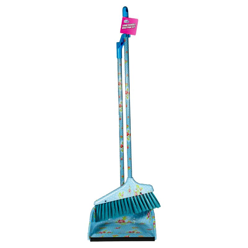 Long Handle Dustpan And Brush Set Blue Buy Online At Qd Stores
