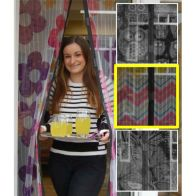 See more information about the Magic Printed Magnetic Door Mesh - Zig Zag