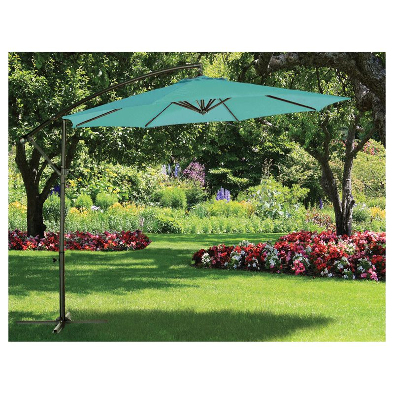 Over Hang Parasol Teal (3m)