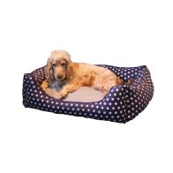 See more information about the Medium Polka Dot Dog Pet Bed (Blue)