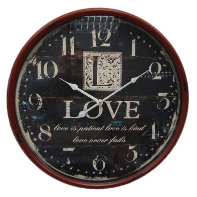 Love Iron Wall Clock 51cm Diameter