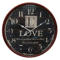 See more information about the Love Iron Wall Clock 51cm Diameter