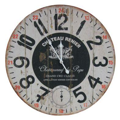 Chateau Wooden Wall Clock 58cm Diameter