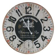 See more information about the Chateau Wooden Wall Clock 58cm Diameter