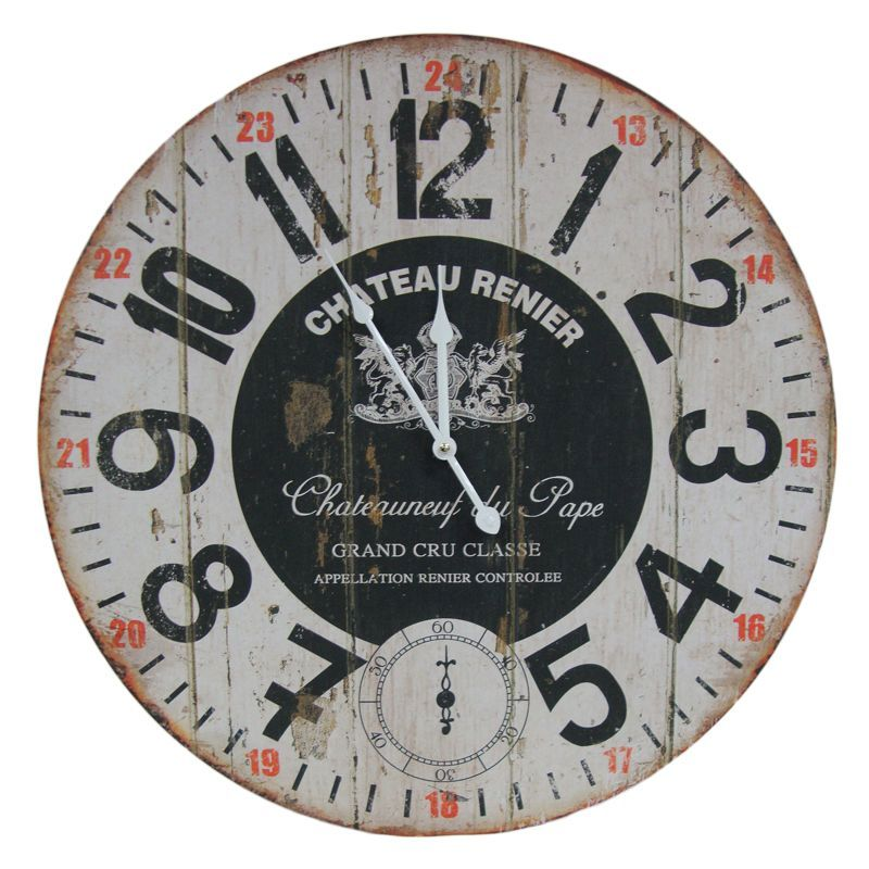 Chateau Wooden Wall Clock 58cm Diameter