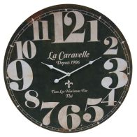 See more information about the La Caravelle Wooden Wall Clock 58cm Diameter