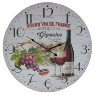 See more information about the Wine Wooden Wall Clock 58cm Diameter