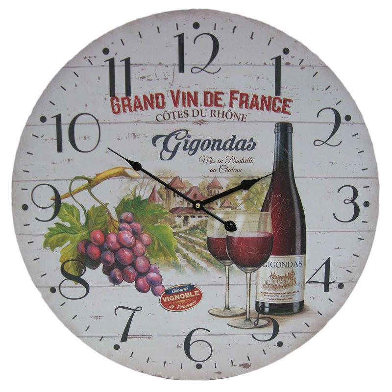 Wine Wooden Wall Clock 58cm Diameter Buy Online At Qd Stores