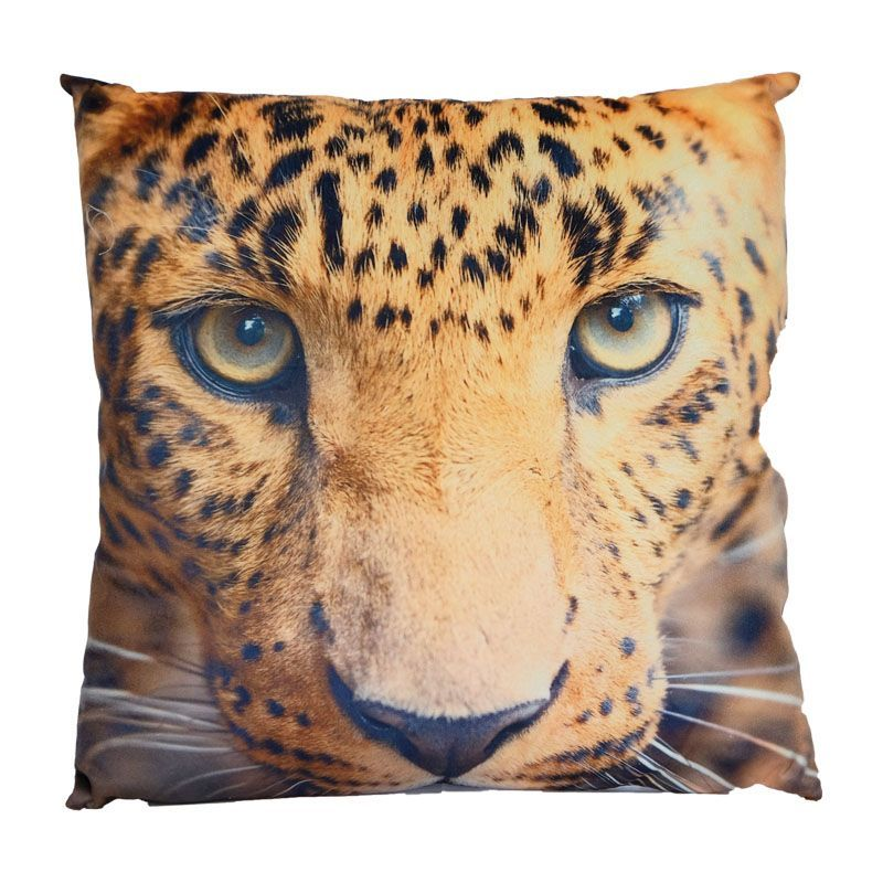 Photographic Animal Cushion 45 x 45cm (Leopard)