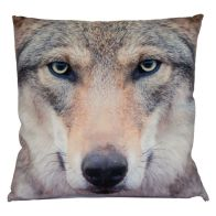 See more information about the Photographic Animal Cushion 45 x 45cm (Wolf)