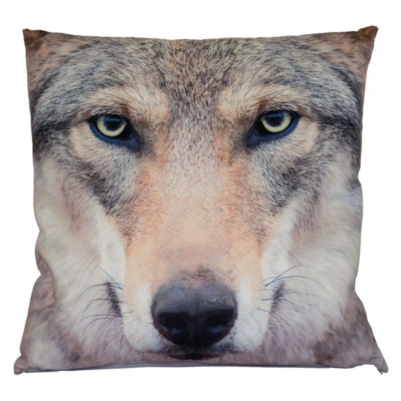 Photographic Animal Cushion 70 x 70cm (Wolf)