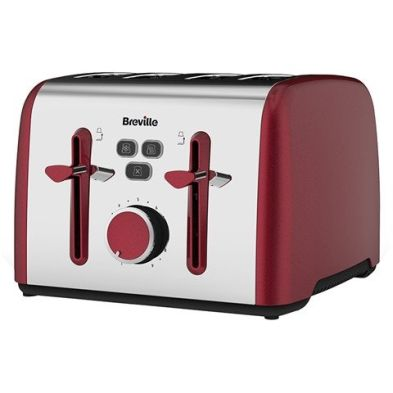 Image of Breville Colour Notes 4 Slice Toaster - Red