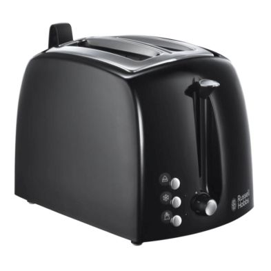 Image of Russell Hobbs Textures 2 Slice Toaster - Black