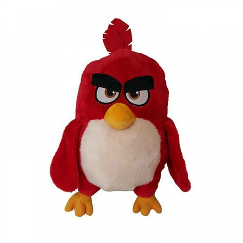 Angry Birds Plush Keychain Red