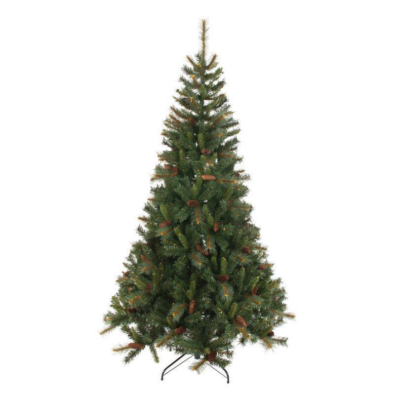 Danish Christmas Trees: 210cm (6 Foot 10 Inch) Green Denmark 1050 Tips Pine