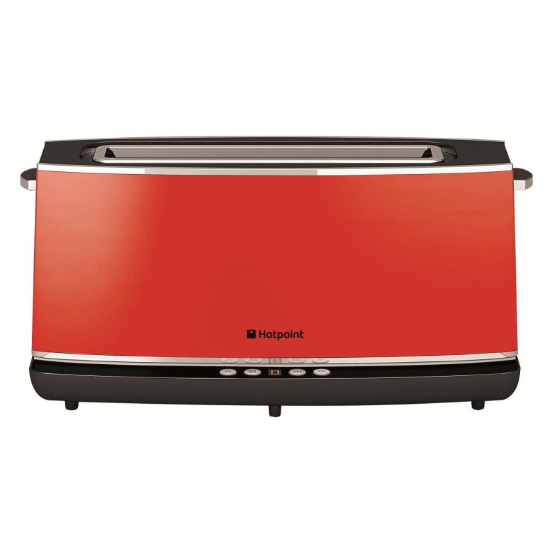 Hotpoint Digital 1 Long Slot Toaster Red Buy Online At