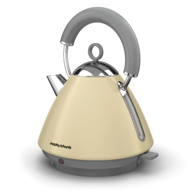 Image of Morphy Richards 1.5 Litre Accents Pyramid Kettle 3KW - Cream
