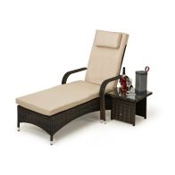 See more information about the Maze Rattan Florida Sun Lounger Set - Brown