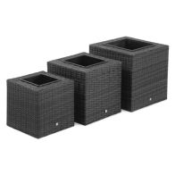 See more information about the Maze Rattan Square Planters - Grey