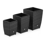 See more information about the Maze Rattan Shaped Planters - Grey