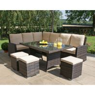 See more information about the Kingston Corner Dining Set - Grey