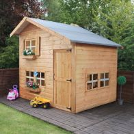 "See more information about the Mercia Bramble Double Storage Children's Garden Playhouse 8'9"" x 7'4"""