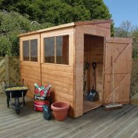 See more information about the Mercia 8 x 4 Premium Shiplap Pent Shed