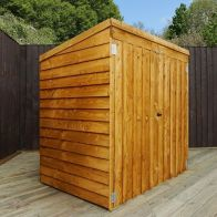 See more information about the Mercia 5 x 3 Double Door Overlap Pent Mower Shed - Windowless