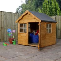 See more information about the Mercia 4 x 4 Snug Shiplap Apex Single Storey Playhouse