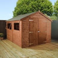 See more information about the Mercia 10 x 6 Premium Double Door Shiplap Apex Shed