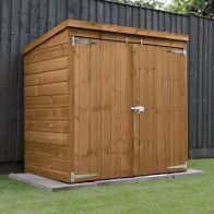 See more information about the Mercia 5 x 3 Double Door Shiplap Pent Mower Shed - Windowless